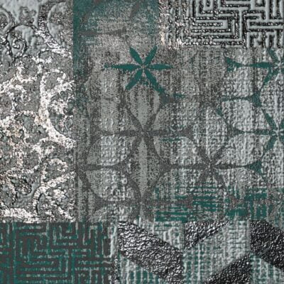 Studio50: Inserto Rococo Green s/4